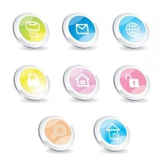 Modern web UI icons set