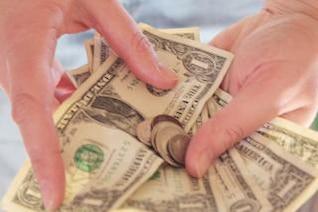 money in hands  banknote