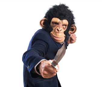 Monkey man with knife
