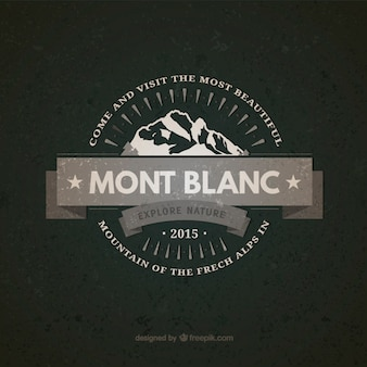Mont Blanc vintage badge
