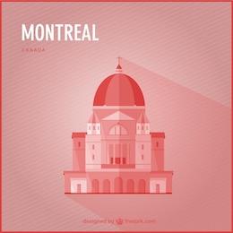 Montreal landmark vector