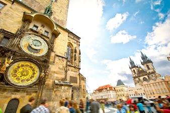 Monuments of Prague.