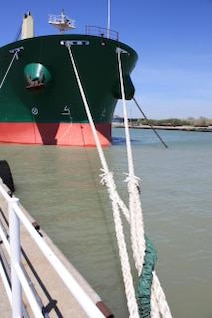 Moored tanker