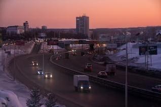 morning traffic street