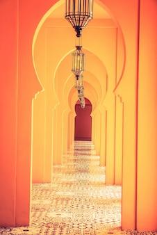 Morocco lamp architecture