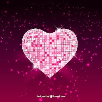 Mosaic glossy heart