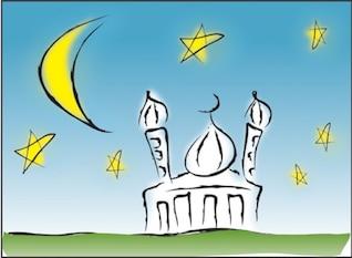 Mosque Illustration Vector Graphic