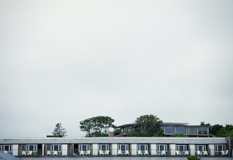 Motel balconies