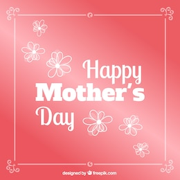 Mother day card in spring style