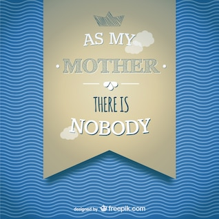 Mother's day banner card template