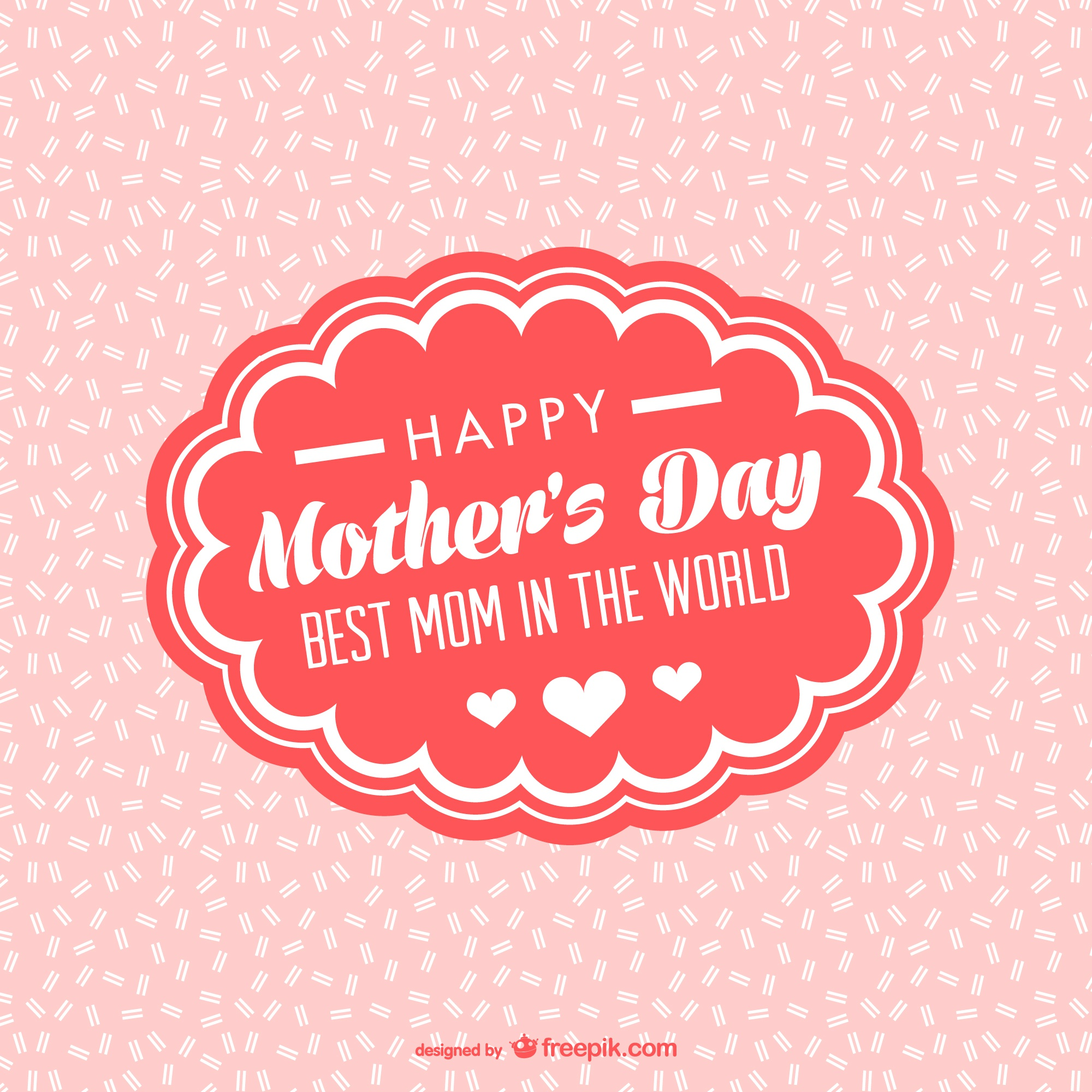 Mother's day deocrative frame card