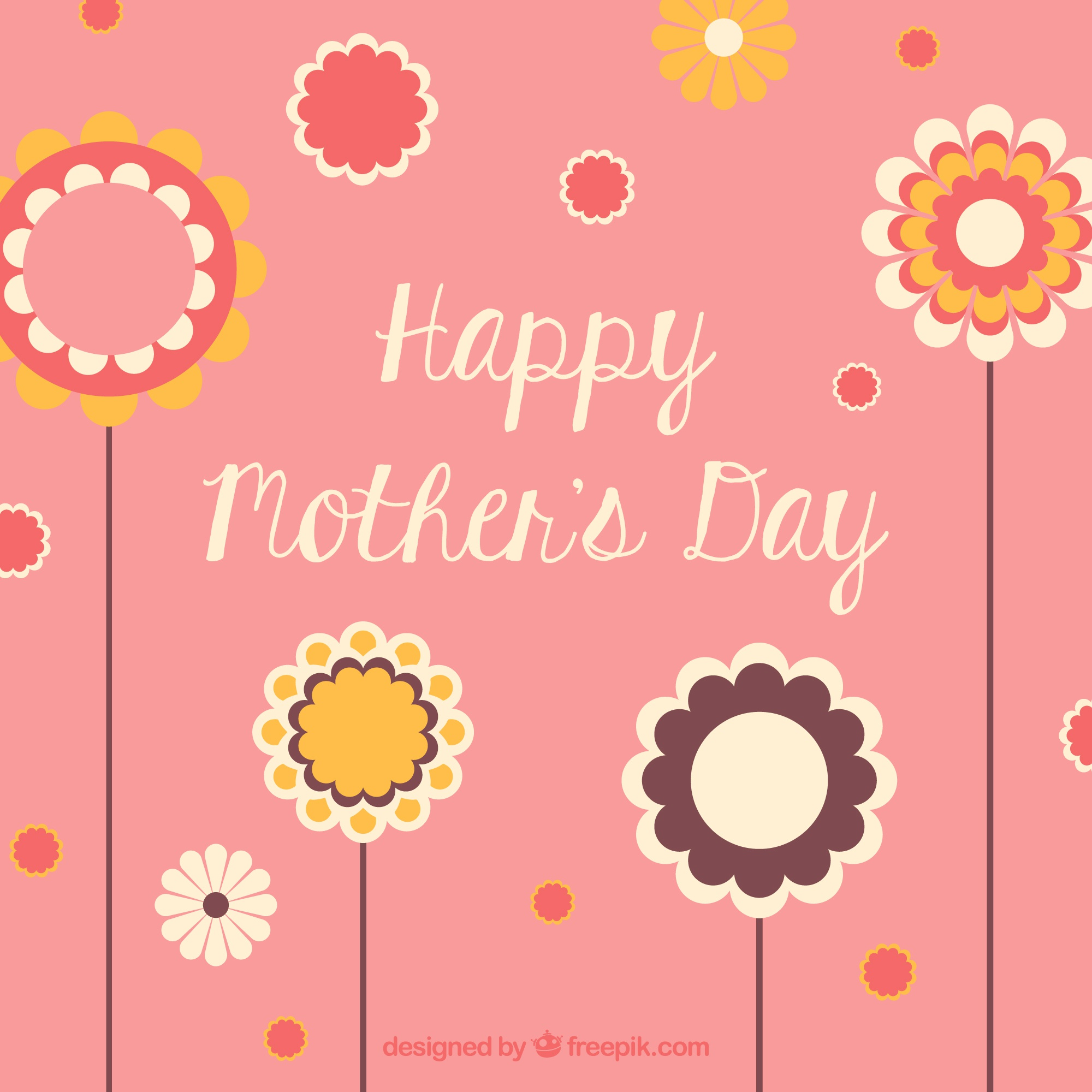 Mother's day flower printable card