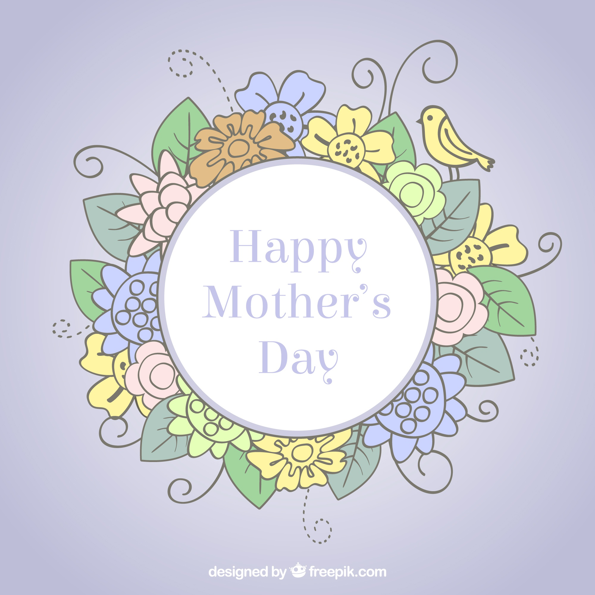 Mother's day vector  free download