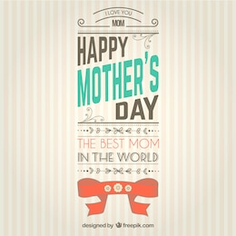Mothers day card in retro style