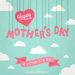 Mothers day card with hanging letters
