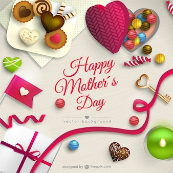 Mothers day card with sweets