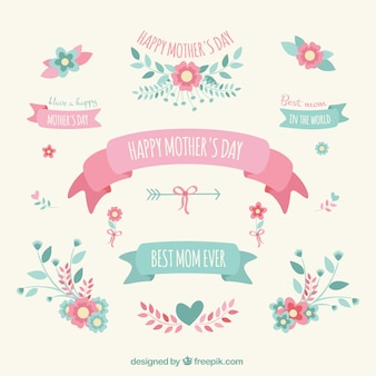 Mothers day decoration elements