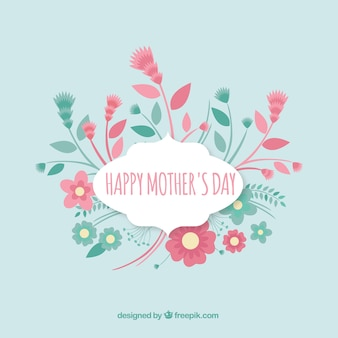 Mothers day greeting with flowers
