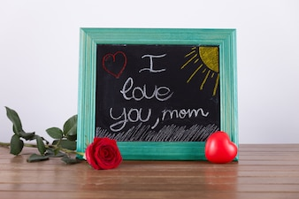 Mothers day presentation with chalkboard