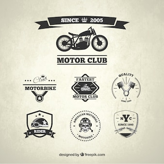 Motor club badges