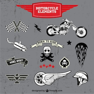 Motorcycle free vector logos set