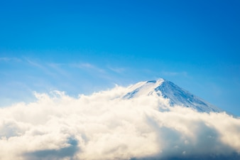 Mountain Fuji with blue sky , Japan