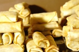 Mountain of spring rolls