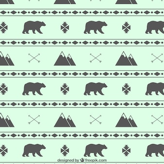Mountains and bears pattern