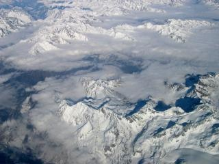 Mountains seen from plane