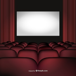 Movie cinema theatre vector