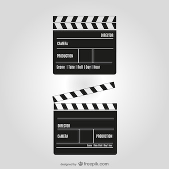 Movie clipper vector