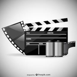 Movie theme vector