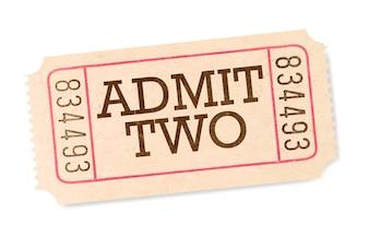 Movie ticket, retro style