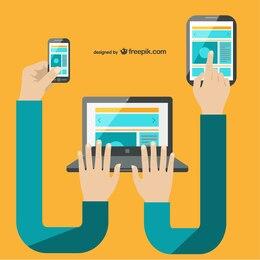 Multi-tasking multimedia technology vector