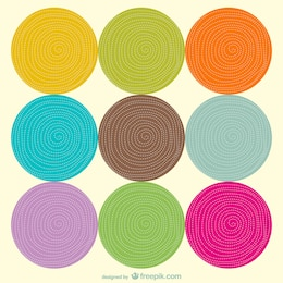 Multicolored circles background template