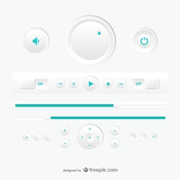 Multimedia player vector design