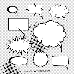 mushroom cloud of the comic style dialog box    vector