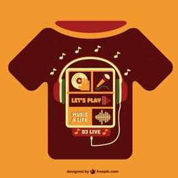 Music concept t-shirt template