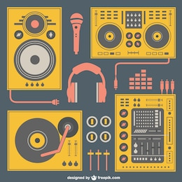 Music equipment vector
