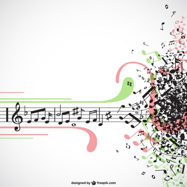Music explosion vector