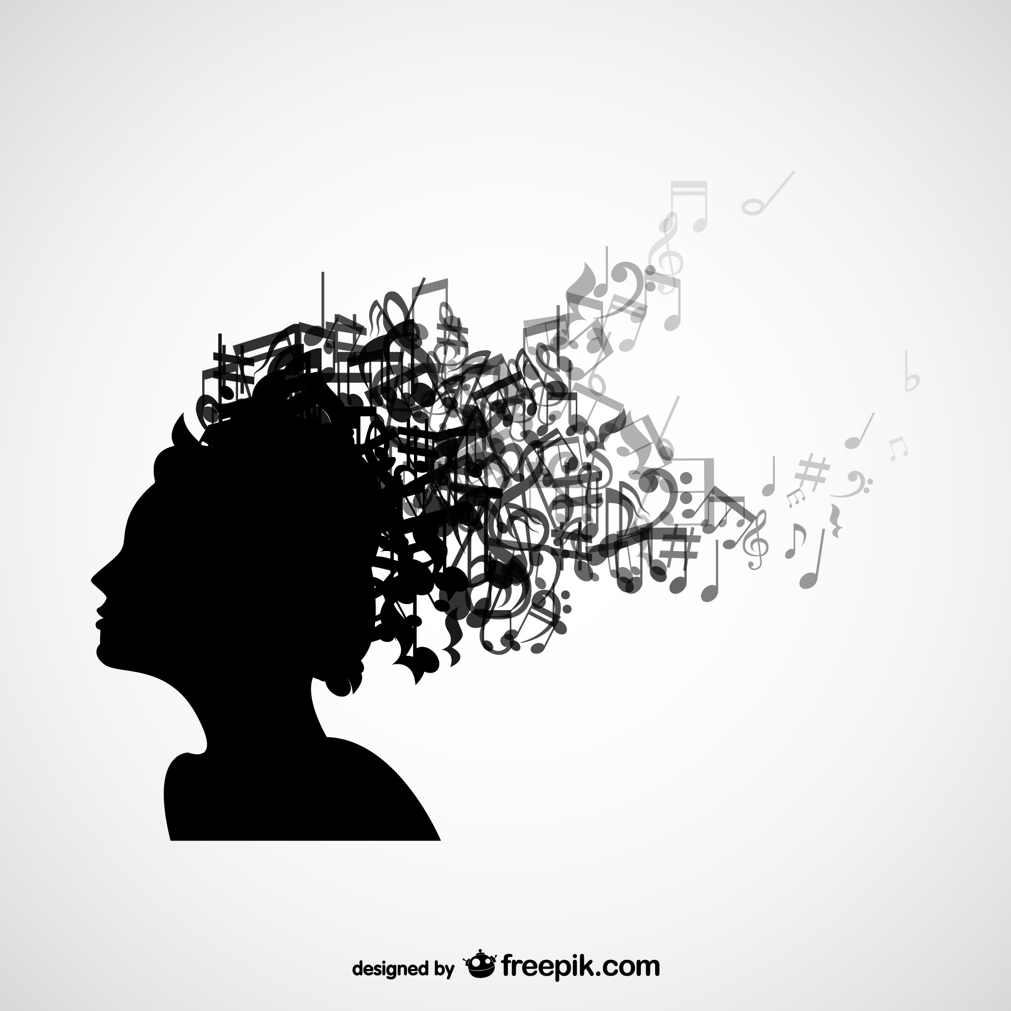 Music fan vector background