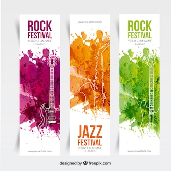 Music festival banners