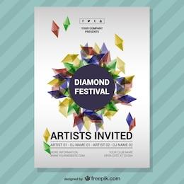 Music festival diamond poster