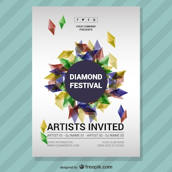 Music festival diamond poster