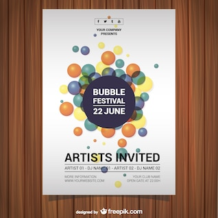 Music festival vector poster free download