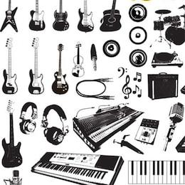 music instruments vector graphics