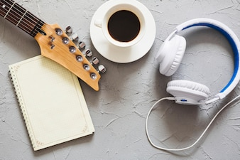 Music objects and coffee