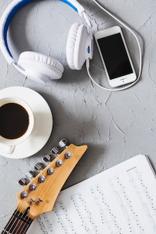Music objects with coffee