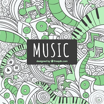 Music scribbles background