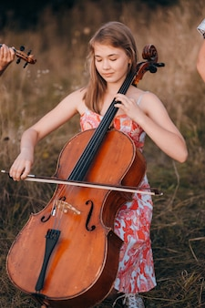 Music togetherness cheerful dress natural